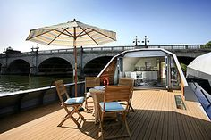 Panther Quay terrace houseboat