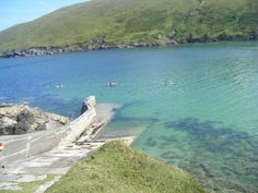 """A great day for a kayak and a snorkel in Port a' Chlóidh, Co. Maigh Eo, Ireland... Best place ever to """"work"""""""