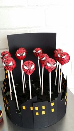 Spiderman cakepops