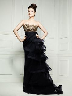 Ayesha Depala Couture 2010 Gown & Elle Magazine Photograph