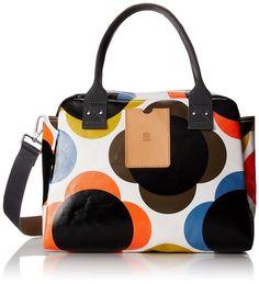Orla Kiely  Giant Flower Spot Zip, Sac de bowling femme - Couleurs mélangées - Multicolour (Multicolour),