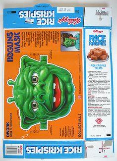 1988 Kellogg's Rice Krispies Cereal Box Back Boglins Mask Sugar Free Cereal, Sugar Free Diet, Krispie Treats, Rice Krispies, 90s Food, Diet Reviews, Ol Days, Good Ol, Box Design
