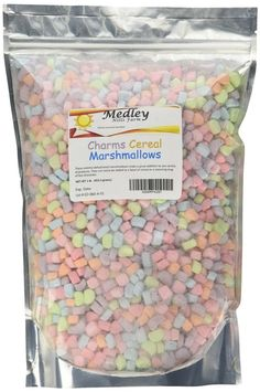 A one-pound bag of cereal marshmallows. Just the marshmallows.