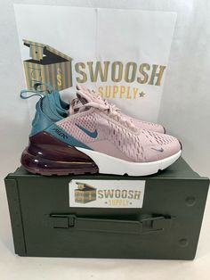pretty nice f4af9 10ec0 Nike Women s AIR MAX 270 Shoes Particle Rose Celestial Teal AH6789-602 Size  5.5  Nike  Athletic