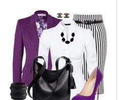 Purple shoes and matching blazer