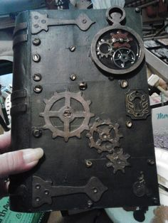 PlumTuckered's Paper Plays: DIY Steampunk book. Idea only.