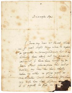 The only surviving autograph letter by Lady Mary Wortley Montagu written from Turkey in Lady Mary Wortley Montagu, Handwritten Letters, Lettering, Notebooks, Journals, Turkey, Scribble, Writers, Printables