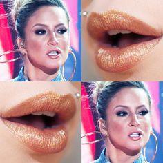 Tutorial – boca inspirada no batom dourado da Claudia Leitte