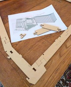 WikiHouse plan - wedge and pin connection, no glue, no screws