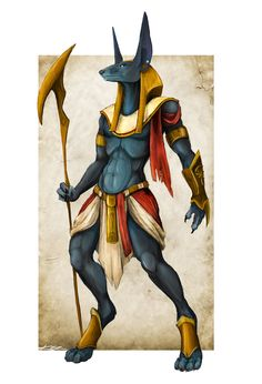 Creature Concept | Anubis, God of Death by FearDaKez on deviantART. But I have to admit it looks kind of like a lucario.