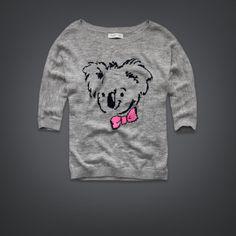 Womens Koala Intarsia Sweater   Womens Clothing   GillyHicks.com