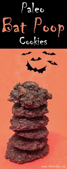 Paleo Bat Poop Recipe - this sounds super gross, but they're actually little chocolate raisin cookies! Easy for kids to make and healthy too!