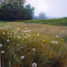 Renato Muccillo, Seeding Meadow, Study, oil, 11 x 11.