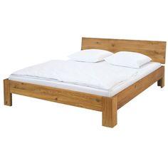 Bett Oak-Line Holz Eiche B 180 T 200 H 81 cm   LIVIQUE Light Oak, Dorm, Furniture, Home Decor, Headboards, Types Of Wood, Engineered Wood, Oak Tree, Dormitory