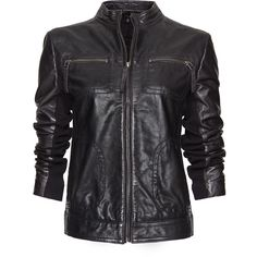 MANGO Leather jacket ($170) ❤ liked on Polyvore featuring outerwear, jackets, leather jackets, coats, tops, black, leather jacket, black leather jacket, mango jacket and real leather jacket