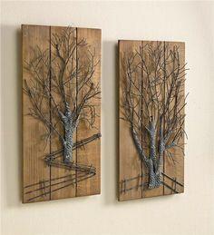 Metal Tree 2 Piece Wall Art Set
