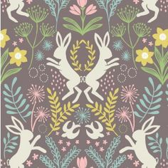 Lewis and Irene Spring Hare Cotton fabric ~ half meter Patchwork Fabric, Cotton Quilting Fabric, Drawing Painting Images, Graphic Patterns, Spring Time, Illustration Art, Illustrations, Arts And Crafts, Artsy