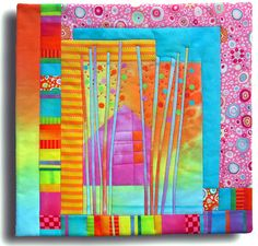 art quilt mini by Melody Johnson