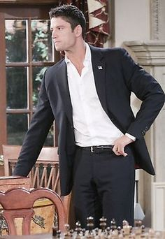EJ makes his strong feelings clear to Sami and is so romantic and persuasive she finds herself swept up in his plans. Alison Sweeney, Life Cast, Great Scott, James Scott, End Of An Era, Luke Perry, Actor James, Casting Pics, Tv Soap