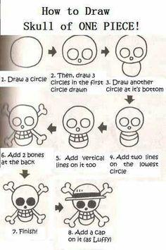 "Jolly Roger ""One Piece"" -Stil zeichnen … - altmea Anime One, One Piece Anime, Jolly Roger One Piece, One Piece Francais, Nail Art Manga, One Piece Zeichnung, One Piece Tattoos, One Piece Logo, One Piece Drawing"