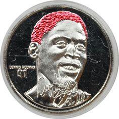 Dennis Rodman 1 oz Silver Limited Edition Round yep have one