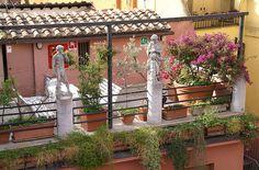 Rom, Via del Biscione, Albergo del Sole, Terrasse (terrace)