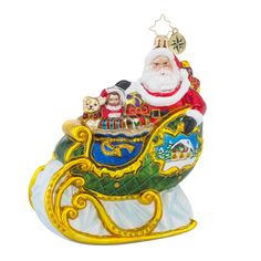 "Christopher Radko Ornament - ""Village Sleigh Ride"""