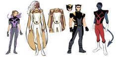 X-Men Redesigns - Lukas Werneck Marvel Xmen, Marvel Art, Marvel Dc Comics, Marvel Heroes, X Men, Psylocke, Comic Book Artists, Comic Books Art, Comic Art