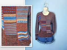 Vintage 1970s Sweater / Retro Earth Tone 70s by SnapVintage, $24.00