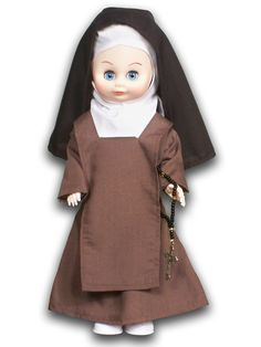 "Carmelite sister ""nun doll"" from ABCatholic - cute gift idea!"