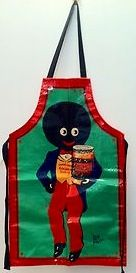 Child's gollywog apron, I have this exact apron. Old Cards, Mixed Emotions, Us History, Rag Dolls, Spaniels, Childhood Memories, Childrens Books, Manchester, Growing Up