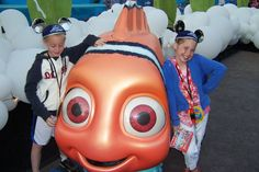We met Nemo at the grand opening for the Finding Nemo Sub ride in Disneyland in 2007.  We had met him once previous at the Seas Pavillion in Epcot.