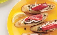 Piquillo Pepper and Sardine Tartines