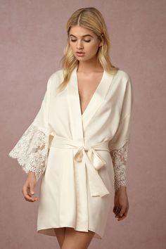 Creme Candlelight Robe | BHLDN