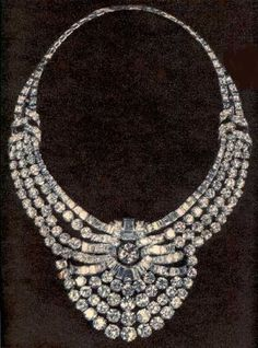 Eva Peron, wife of Argentinan dictator, Diamond Necklace Gold Rings Jewelry, Royal Jewelry, Diamond Jewelry, Antique Jewelry, Jewelery, Vintage Jewelry, Fine Jewelry, Jewelry Necklaces, Bracelets