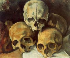 Top 15 Most Famous Paintings by Paul Cézanne. Paul Cezanne was one of the main artists of Post Impressionism. He used planes of shading and small brushstrokes that development to shape complex fields. Cezanne Art, Paul Cezanne Paintings, Skull Painting, Painting Prints, Diy Painting, Art Prints, Cezanne Still Life, Oil Painting Reproductions, Skull Art