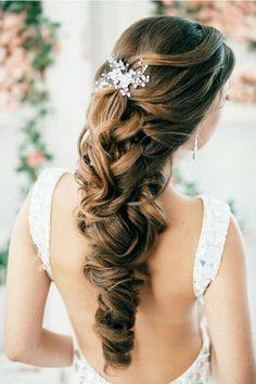 Hairstyle idea for bride