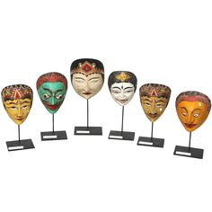 Indonesian Masks | From a unique collection of antique and modern southeast asian art objects at 1stdibs.