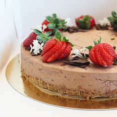 Vegan Cheesecake, Cheesecakes, Delicious Desserts, Cake Decorating, Recipies, Brunch, Veggies, Food And Drink, Sweets
