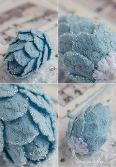inspiration - embellished felt pinecone ornament