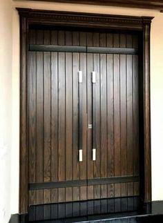 Ashwood Main Door Wooden Double Doors, Main Door, Wood Projects, Tall Cabinet Storage, Garage Doors, Building, Outdoor Decor, Furniture, Ideas
