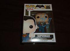 Funko Pop Vinyl Autographed Batman Vs Superman Figure Henry Cavill (Clark Kent) in Collectibles, Autographs, Celebrities   eBay