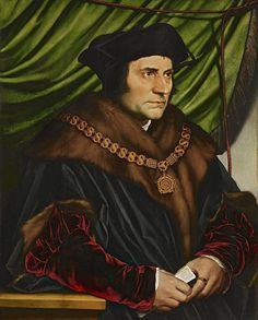 """""""German-Swiss painter Hans Holbein the Younger is considered one of the great portrait artists of the 16th century.  Here's my favourite: his """"Portrait of Sir Thomas More"""" from the collection of @frickcollection #art"""""""