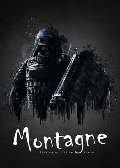 """Rainbow Six Siege Characters Montagne #Displate artwork by artist """"TraXim"""". Part of a 33-piece set featuring artwork based on characters from the popular Rainbow Six video game. £37 / $49 per poster (Regular size), £74 / $98 per poster (Large size) #RainbowSix #RainbowSixSiege #TomClancy #TomClancysRainbowSix #Rainbow6 #Rainbow6Siege #TomClancysRainbow6 #Ubisoft"""