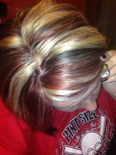 black and blonde hair hair nail black and blond hair brownblond chunk ...