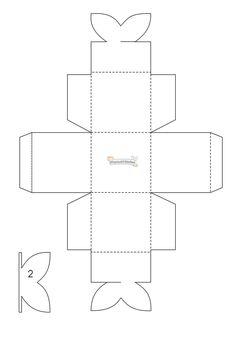 MANUALIDADES: febrero 2011 Diy Gift Box, Paper Gift Box, Diy Box, Craft Gifts, Diy Gifts, Diy Paper, Paper Crafts, Paper Box Template, Printable Box