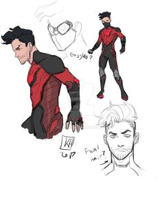 Imp Sketches by HusetArts on DeviantArt Black Anime Characters, Superhero Characters, Comic Book Characters, Comic Character, Comic Books Art, Comic Art, Character Education, Physical Education, Fantasy Character Design