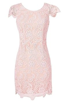Carrie Capsleeve Lace Pencil Dress in Pink Affordable Dresses, Trendy Dresses, Elegant Dresses, Cute Dresses, Dresses With Sleeves, Summer Dress, Spring Dresses, Carrie, Pink Dress