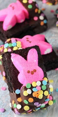 Bunny Peeps in a Blanket Brownies - Life Love and Sugar