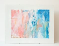 Multi color gold leaf watercolor and gouache Abstract Fine Art by MadelynNicoleStudio